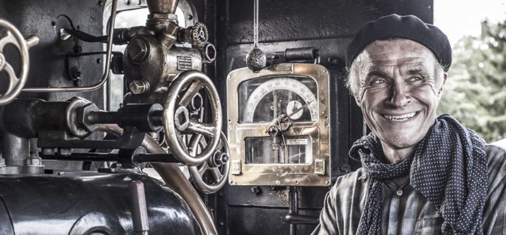 Chauffeur de la locomotive à vapeur